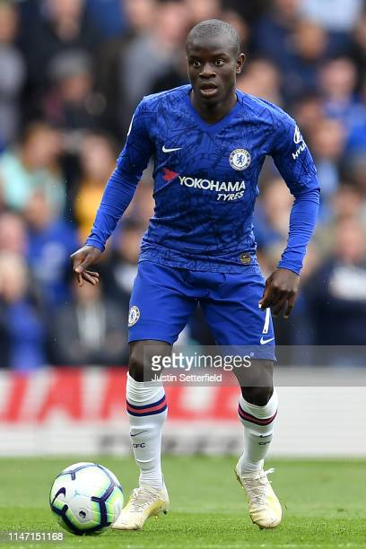 Ngolo Kante of Chelsea during the Premier League match between Chelsea FC and Watford FC at Stamford Bridge on May 05 2019 in London United Kingdom