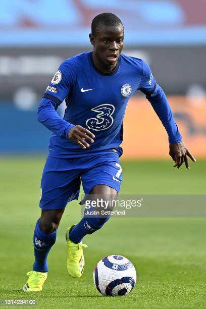 Ngolo Kante of Chelsea during the Premier League match between West Ham United and Chelsea at London Stadium on April 24, 2021 in London, England....