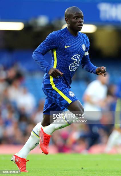 NGolo Kante of Chelsea FC during the Pre Season Friendly between Chelsea and Tottenham Hotspur at Stamford Bridge on August 04, 2021 in London,...