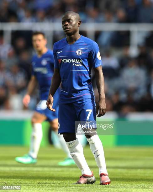 Ngolo Kante of Chelsea is seen during the Premier League match between Newcastle United and Chelsea at St James Park on May 13 2018 in Newcastle upon...