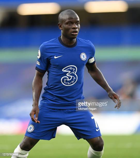 Ngolo Kante of Chelsea of Chelsea during the Premier League match between Chelsea and Liverpool at Stamford Bridge on September 20 2020 in London...