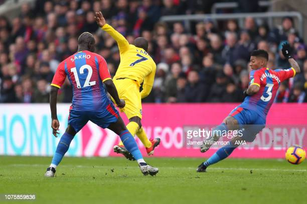 NGolo Kante of Chelsea scores a goal to make it 1-0 during the Premier League match between Crystal Palace and Chelsea FC at Selhurst Park on...
