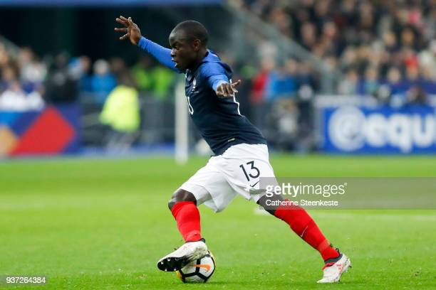 NÕGolo Kante of France controls the ball during the international friendly match between France and Colombia at Stade de France on March 23 2018 in...