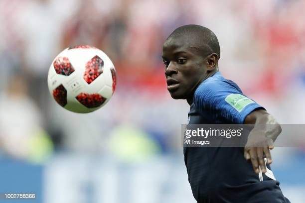 Ngolo Kante of France during the 2018 FIFA World Cup Russia Final match between France and Croatia at the Luzhniki Stadium on July 15 2018 in Moscow...
