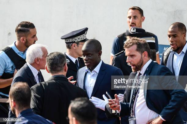 Ngolo Kante of France during the arrival at Airport Roissy Charles de Gaulle on July 16 2018 in Paris France