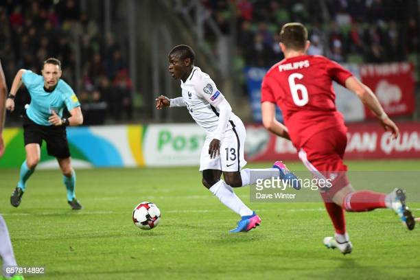 Ngolo Kante of France during the FIFA World Cup 2018 qualifying match between Luxembourg and France on March 25 2017 in Luxembourg Luxembourg