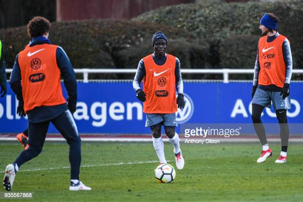 Ngolo Kante of France during training session at Centre National du Football on March 20 2018 in Clairefontaine en Yvelines France