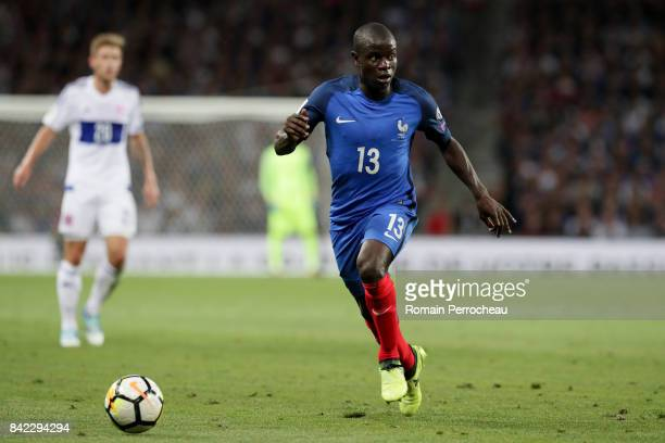 Ngolo Kante of France in action during the FIFA 2018 World Cup Qualifier between France and Luxembourg at on September 3 2017 in Toulouse France