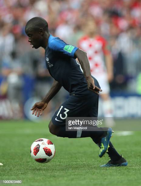 Ngolo Kante of France is seen during the 2018 FIFA World Cup Russia Final between France and Croatia at Luzhniki Stadium on July 15 2018 in Moscow...
