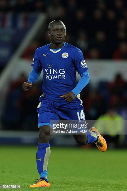Ngolo Kante of Leicester City during the Barclays Premier League match between Leicester City and Liverpool at the King Power Stadium on February...
