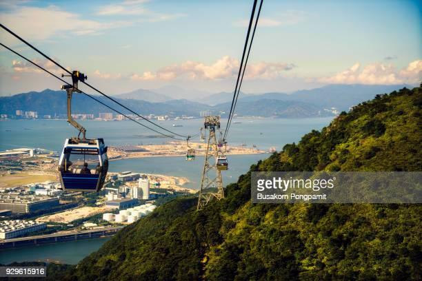 Ngong Ping cable car in Hong Kong Chin