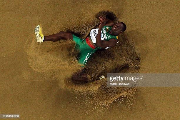 Ngonidzashe Makusha of Zimbabwe competes during the men's long jump final during day seven of 13th IAAF World Athletics Championships at Daegu...