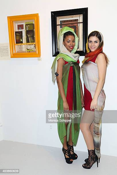 Ngozi Assata and Olya Grynko attend 'love art give a smile' Art Fashion And Design Benefit at Clen Gallery on December 5 2013 in New York City