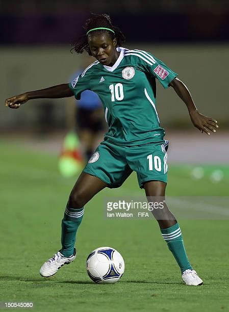 Ngozi Okobi of Nigeria in action during the FIFA U-20 Women's World Cup Japan 2012, Group B match between Nigeria v Korean Republic at Komaba Stadium...
