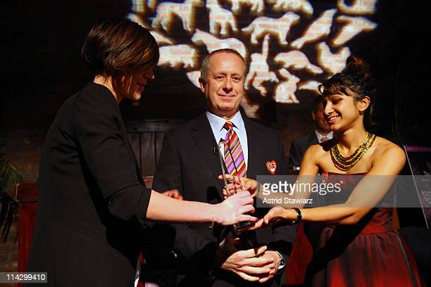 Ngrid Bergstrom-Kendrick;, Bruce E. Dempsey and Sarika Reuben attend The Humane Society of the United States & The Art Institute's Fifth Annual Cool...
