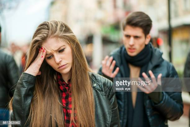 ngry man yelling at his girlfriend - boyfriend stock pictures, royalty-free photos & images