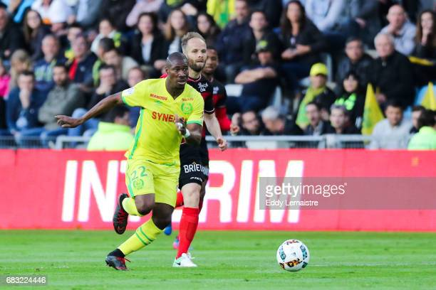 Nguimbe Nakoulma of Nantes and Etienne Didot of Guingamp during the Ligue 1 match between FC Nantes and EA Guingamp at Stade de la Beaujoire on May...