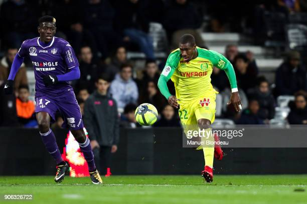 Nguimbe Nakoulma of Nantes during the Ligue 1 match between Toulouse and Nantes at Stadium Municipal on January 17 2018 in Toulouse