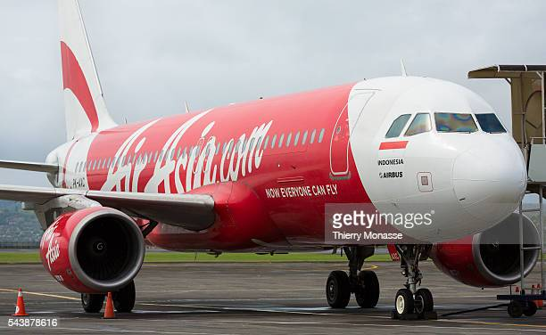 Ngurah Rai International Airport Bali Indonesia November 29 2014 An Airbus A320 from Indonesia Airasia is seen in Denpasar International Airport PT...