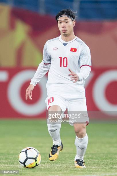 Nguyen Cong Phuong of Vietnam in action during the AFC U23 Championship China 2018 Group D match between South Korea and Vietnam at Kunshan Sports...