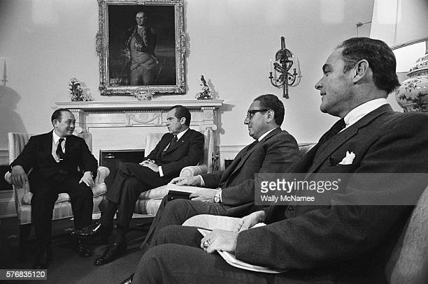 Nguyen Phu Duc of Vietnam meets with President Nixon Secretary of State Henry Kissinger and General Alexander Haig in the White House