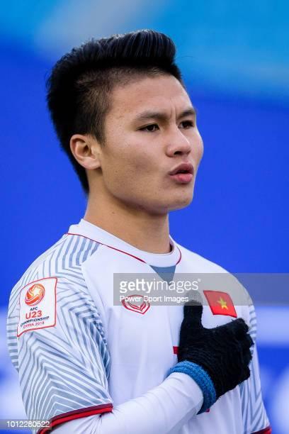 Nguyen Quang Hai of Vietnam during the AFC U23 Championship China 2018 Semi Finals match between Qatar and Vietnam at Changzhou Olympic Sports Center...