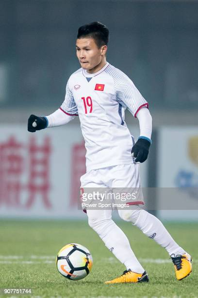 Nguyen Quang Hai of Vietnam in action during the AFC U23 Championship China 2018 Group D match between Syria and Vietnam at Changshu Sports Center on...