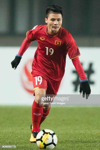Nguyen Quang Hai of Vietnam in action during the AFC U23 Championship China 2018 Quarterfinals match between Iraq and Vietnam at Changshu Stadium on...