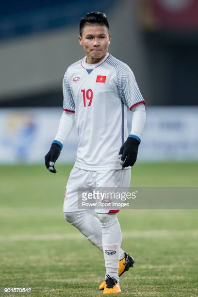Nguyen Quang Hai of Vietnam reacts during the AFC U23 Championship China 2018 Group D match between South Korea and Vietnam at Kunshan Sports Center...