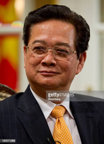 Nguyen Tan Dung Vietnam's prime minister listens during an interview in New York US on Friday Sept 27 2013 Vietnams economic growth quickened this...