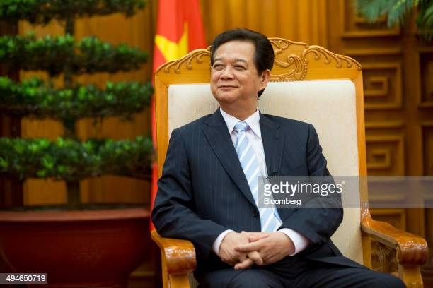 Nguyen Tan Dung Vietnam's prime minister pauses during an interview in Hanoi Vietnam on Friday May 30 2014 Vietnam has prepared evidence for a legal...