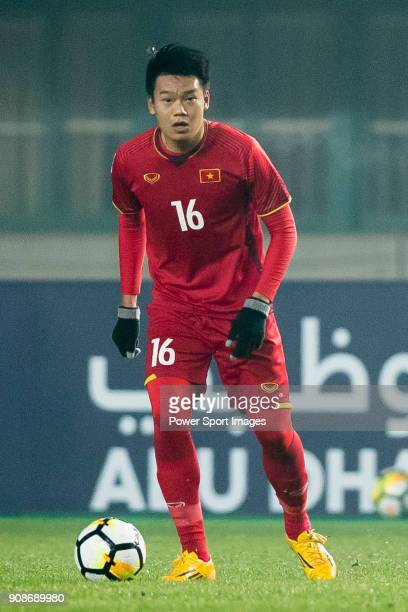 Nguyen Thanh Chung of Vietnam in action during the AFC U23 Championship China 2018 Quarterfinals match between Iraq and Vietnam at Changshu Stadium...