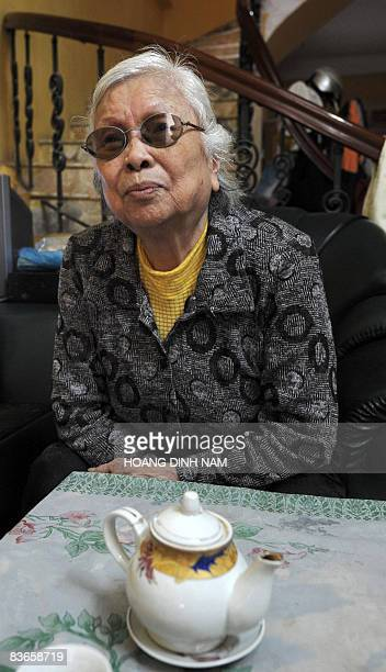 Nguyen Thi Thanh speaks during an interview at her house in Hanoi on November 5 2005 During the war she helped save John McCain's life but when this...