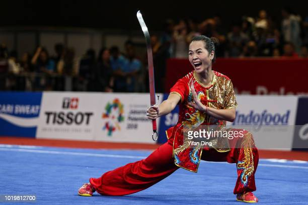 Nguyen Thuy Linh of Vietnam competes during women's Nandao on day two of the Asian Games on August 20, 2018 in Jakarta, Indonesia.