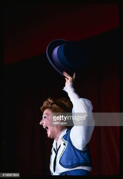 Nha Trang VietnamCloseups of actress Mary Martin as she appeared in the October 10th performance of the musical comedy Hello Dolly This production...