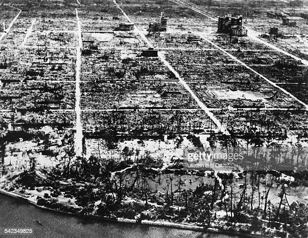 WORLD WAR II HIROSHIMA /nHiroshima Japan shortly after the first atomic bomb explosion at the end of World War II 6 August 1945