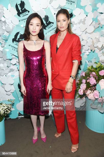 Ni Ni and Doutzen Kroes attend the Tiffany Co Paper Flowers event and Believe In Dreams campaign launch on May 3 2018 in New York City