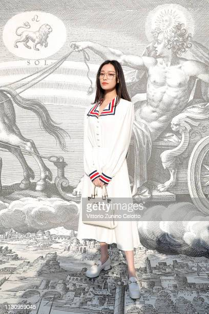 Ni Ni arrives at the Gucci show during Milan Fashion Week Autumn/Winter 2019/20 on February 20 2019 in Milan Italy