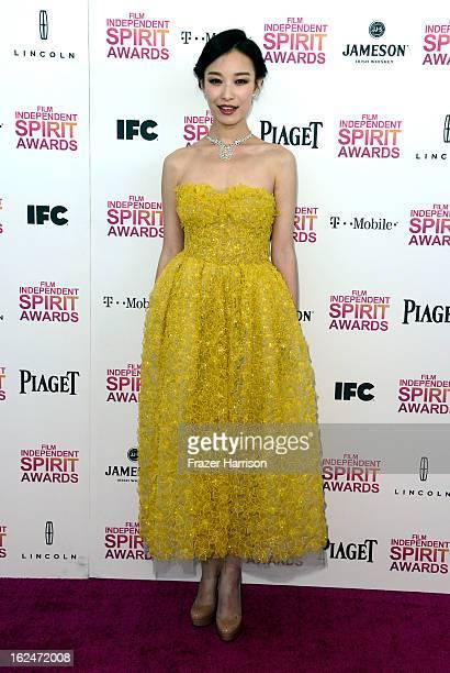 Ni Ni attends the 2013 Film Independent Spirit Awards at Santa Monica Beach on February 23 2013 in Santa Monica California