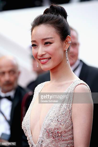 Ni Ni attends the Cafe Society premiere and the Opening Night Gala during the 69th annual Cannes Film Festival at the Palais des Festivals on May 11...