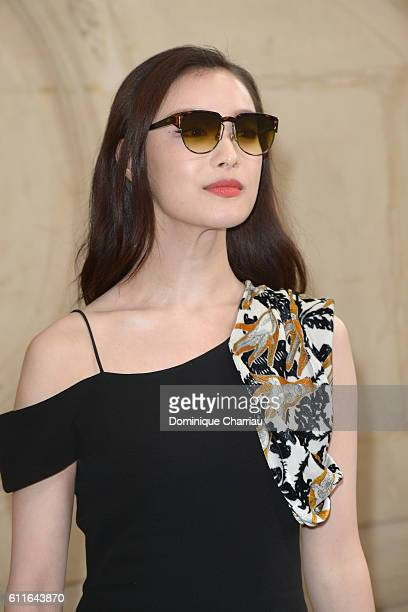Ni Ni attends the Christian Dior show as part of the Paris Fashion Week Womenswear Spring/Summer 2017 on September 30 2016 in Paris France