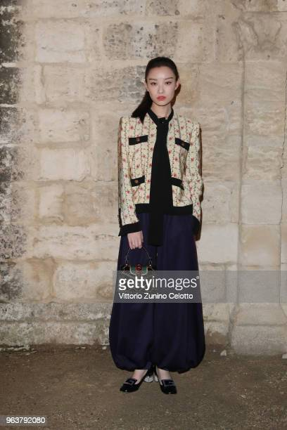Ni Ni attends the Gucci Cruise 2019 show at Alyscamps on May 30 2018 in Arles France