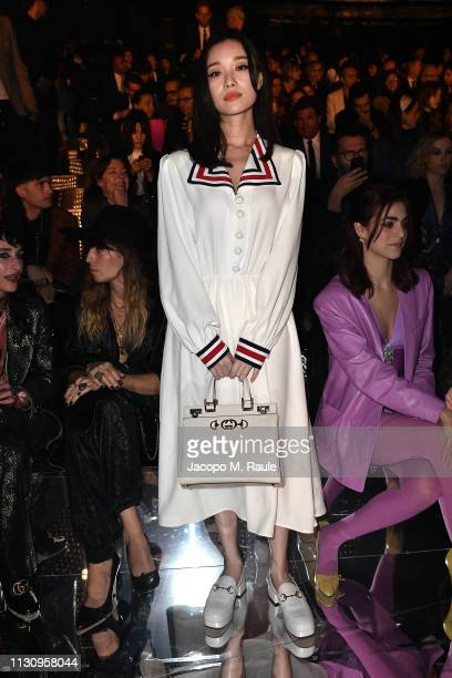 Ni Ni attends the Gucci show during Milan Fashion Week Autumn/Winter 2019/20 on February 20 2019 in Milan Italy
