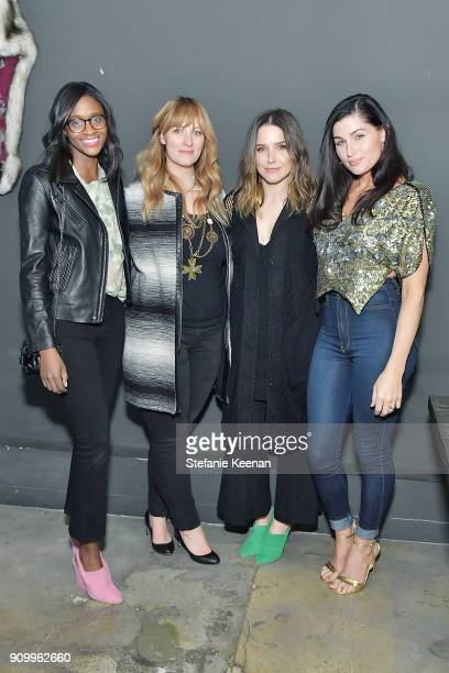 Nia Batts Jenna Arbold Sophia Bush and Trace Lysette attend Conde Nast The Women March's Dinner Party to Celebrate the One Year Anniversary of the...
