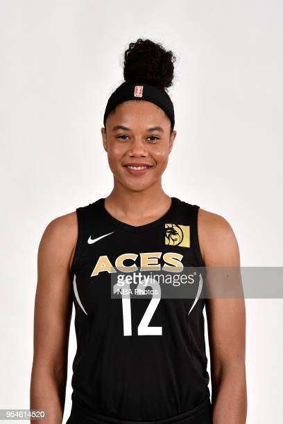 Nia Coffey of the Las Vegas Aces poses for a head shot at WNBA Media Day at MGM Grand Garden Arena on May 3 2018 in Las Vegas Nevada NOTE TO USER...