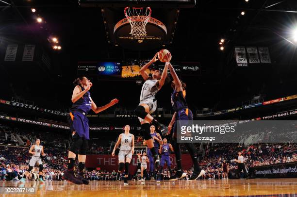 Nia Coffey of the Las Vegas Aces shoots the ball against the Phoenix Mercury on July 19 2018 at Talking Stick Resort Arena in Phoenix Arizona NOTE TO...