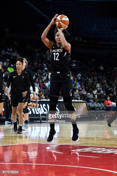 Nia Coffey of the Las Vegas Aces shoots the ball on June 17 2018 at the Mandalay Bay Events Center in Las Vegas Nevada NOTE TO USER User expressly...