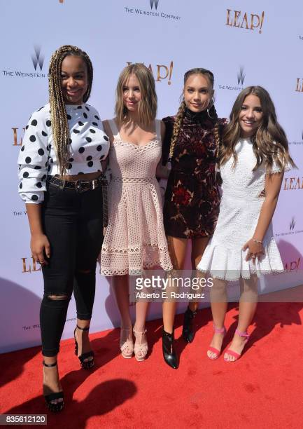 Nia Frazier Lilia Buckingham actress Maddie Ziegler and Mackenzie Ziegler attends the premiere of The Weinstein Company's Leap at the Pacific...