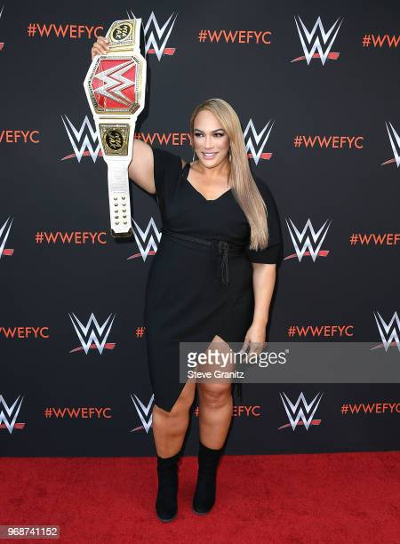 Nia Jax arrives at the WWE's FirstEver Emmy For Your Consideration Event at Saban Media Center on June 6 2018 in North Hollywood California