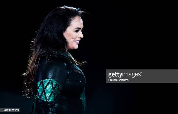 Nia Jax arrives during to the WWE Live Duesseldorf event at ISS Dome on February 22 2017 in Duesseldorf Germany